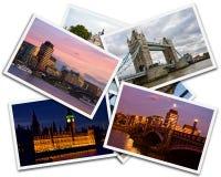 London collage Arkivfoton