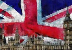 London-Collagen-Malerei Lizenzfreie Stockfotos