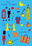 London colored objects Stock Photography