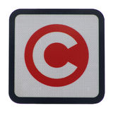 London congestion charge sign. London congestion charging sign isolated on white Stock Photos