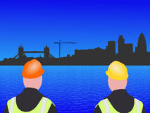 London construction site Royalty Free Stock Image