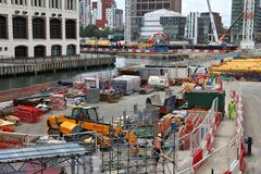 London construction works Stock Photography