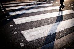 London crosswalk. Pedestrian zebra crossing in London Royalty Free Stock Photo