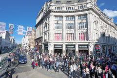 London crowded Oxford street Stock Image