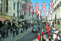 London crowded Oxford street Royalty Free Stock Photos