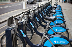 London Cycle Hire Stock Images