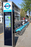 London Cycle Hire docking station Stock Images