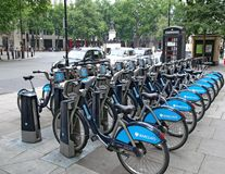 London Cycle Hire Stock Photos