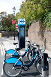 London Cycle Hire. Scheme (Boris bikes royalty free stock image