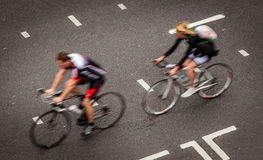 London cyclists Stock Photos
