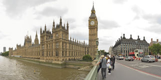 London'd big ben by Westmister bridge. Stock Photos