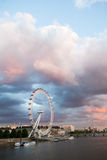 London at dawn. View from Golden Jubilee bridge Stock Images