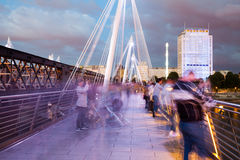 London at dawn. View from Golden Jubilee bridge Stock Image