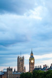 London at dawn. View from Golden Jubilee bridge Royalty Free Stock Photo