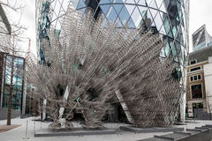 LONDON - DEC 20 : Ai Weiwei's new Forever Sculpture outside Lond Royalty Free Stock Images