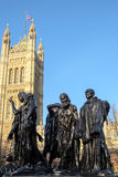LONDON - DEC 9 : The Burghers of Calais Statue in Victoria Tower Royalty Free Stock Photo