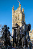 LONDON - DEC 9 : The Burghers of Calais Statue in Victoria Tower Stock Images