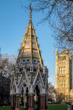 LONDON - DEC 9 : Buxton Memorial Fountain in Victoria Tower Gard Royalty Free Stock Images