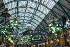 LONDON - DEC 20 : Christmas Decorations at Covent Garden in Lond Royalty Free Stock Images