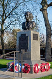 LONDON - DEC 9 : Statue of Violette Szabo in London on Dec 9, 20 Royalty Free Stock Photo