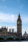 LONDON - DEC 9 : View of Big Ben and the Houses of Parliament in Royalty Free Stock Image