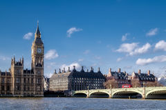 LONDON - DEC 9 : View of Big Ben and the Houses of Parliament in Royalty Free Stock Images