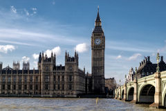 LONDON - DEC 9 : View of Big Ben and the Houses of Parliament in Stock Image