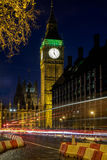 LONDON - DEC 20 : View of Big Ben at Nighttime in London on Dec Stock Photography