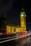 LONDON - DEC 20 : View of Big Ben at Nighttime in London on Dec Stock Image