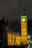 LONDON - DEC 20 : View of Big Ben at Nighttime in London on Dec Royalty Free Stock Photography