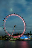 LONDON - DEC 20 : View of the London Eye at Night in London on D Stock Photos