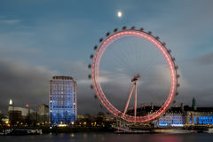 LONDON - DEC 20 : View of the London Eye at Night in London on D Royalty Free Stock Image