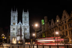 LONDON - DEC 20 : View of Westminster Abbey at Nighttime in Lond Stock Photos