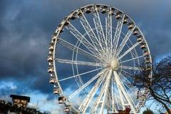 LONDON - DECEMBER 9 : Ferris wheel at Winter Wonderland Hyde Par Stock Images