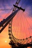 LONDON - DECEMBER 20 : London Eye silhouette in London on Decemb Royalty Free Stock Images