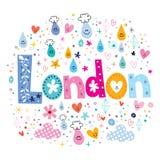 London. Decorative lettering type design royalty free illustration