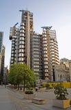 London - den Lloyds byggnaden i afton Arkivbilder