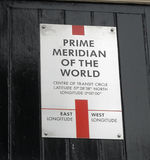 London der Greenwich-Meridian Stockfotos