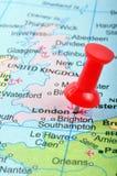 London in der Karte Lizenzfreies Stockbild
