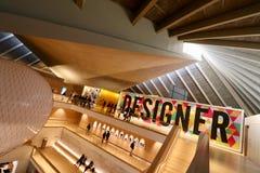 London-Design-Museum, Innenfoyer stockbild