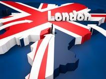 London destination Fotografering för Bildbyråer