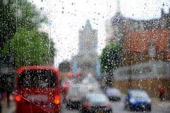 london deszcz Obrazy Stock