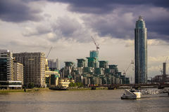 London developement. Business development on the river thames Stock Photo