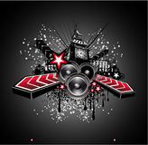 London Disco Music Flyer Background Royalty Free Stock Images
