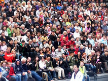 London Diversity In The Scoop 13th September 2009. Central London - September 13: Diverse crowds in the Scoop at the River Thames Festival  September 13th, 2009 Royalty Free Stock Photography
