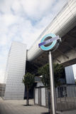 London DLR Sign Stock Photography