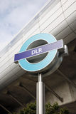London DLR Sign Stock Photos