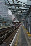London DLR station Royalty Free Stock Images