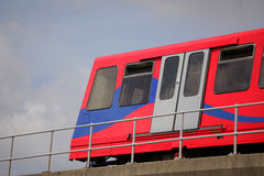 London DLR train Royalty Free Stock Photos