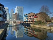 London Docklands redevelopment 2008 Royalty Free Stock Photo